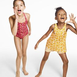 Girls' One Piece Swimsuit, $24.99; Girls' Tank Top and Short Set, $24.99