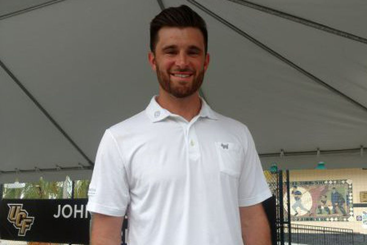 Former UCF catcher Drew Butera was present for the John Euliano Park expansion groundbreaking on Saturday. (Photo: Brian Murphy)