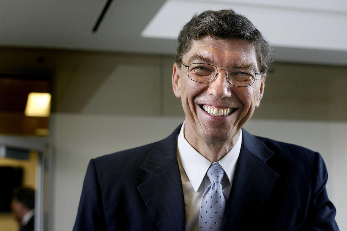 Clayton Christensen is photographed at the Triad Center in Salt Lake City on Oct. 29, 2010.