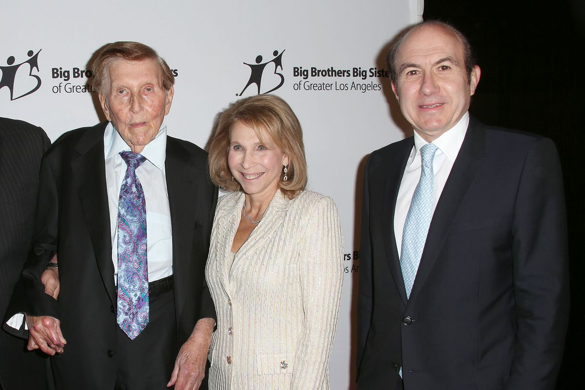 Viacom/CBS's Sumner Redstone, Shari Redstone and Philippe Dauman in 2012