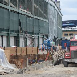 3:06 p.m. View along the west side of the ballpark -