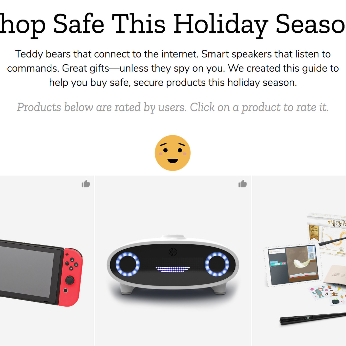 theverge.com - Shannon Liao - Mozilla releases privacy report on which holiday gadgets are too creepy