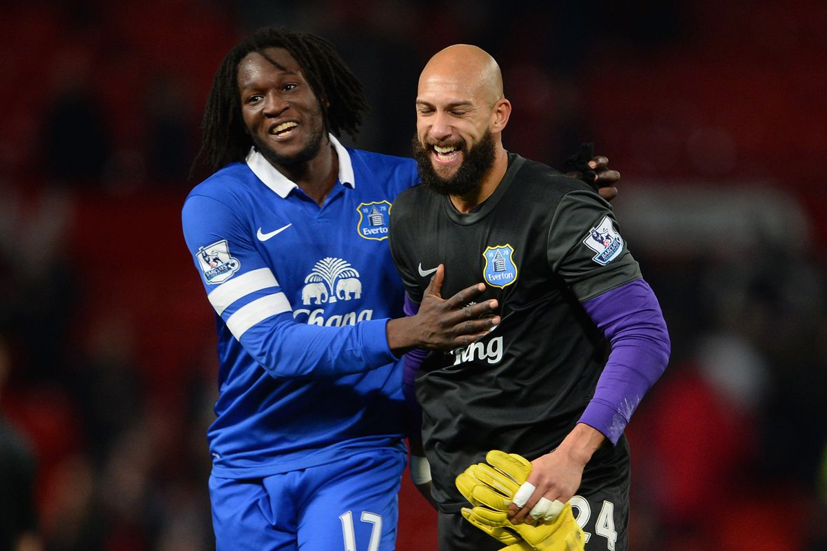 Tim Howard & Romelu Lukaku in the same picture is more manliness than is allowed by the Geneva Convention.