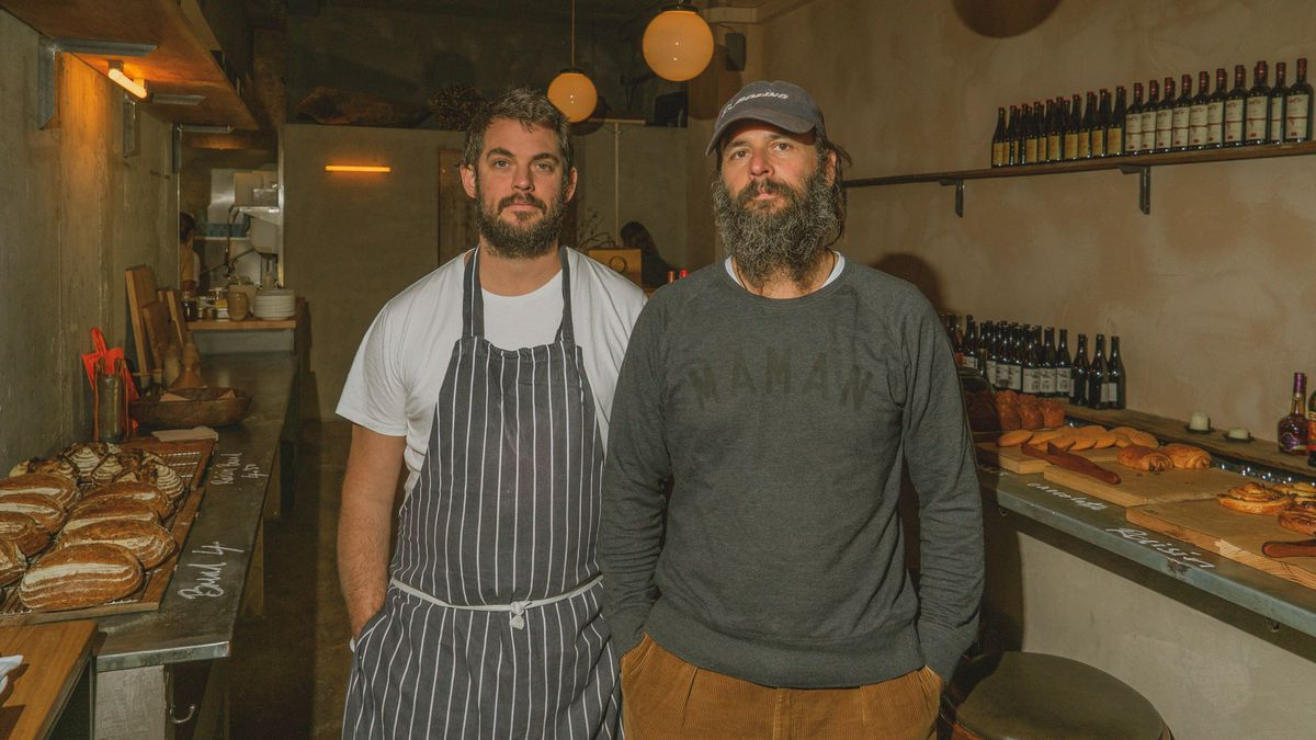 Owners David Gingell and Jeremie Cometto-Lingenheim at Jolene bakery, restaurant and wine bar in Newington Green