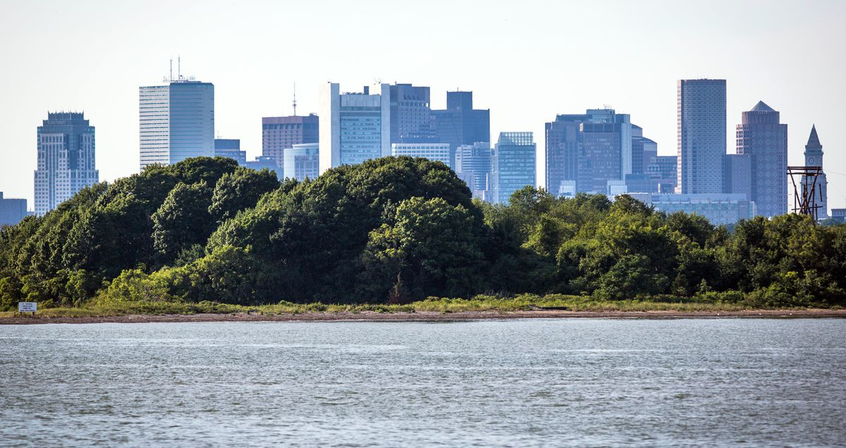 View Of Boston Skyline From Southwest Tip Of Thompson Island