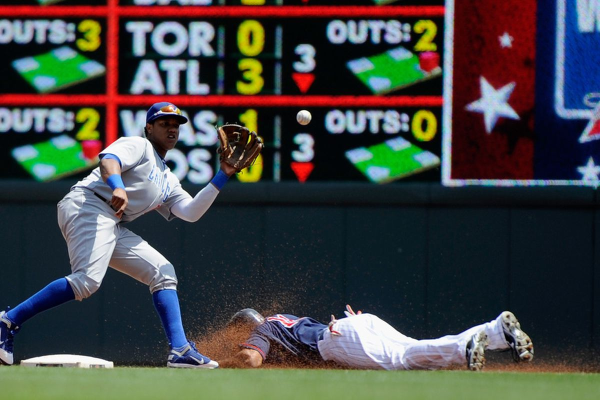 Revere stole second base in the first inning, but it was as close as the team would get to scoring until the ninth.