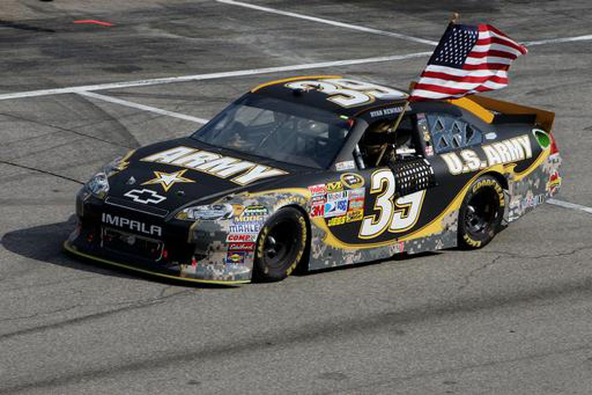 Ryan Newman, winner of the Lenox Industrial Tools 301 at New Hampshire Motor Speedway