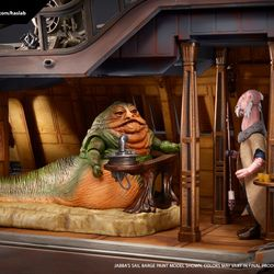 Jabba's Sail Barge will include Jabba as well as Yak Face. Both will come in vintage packaging.