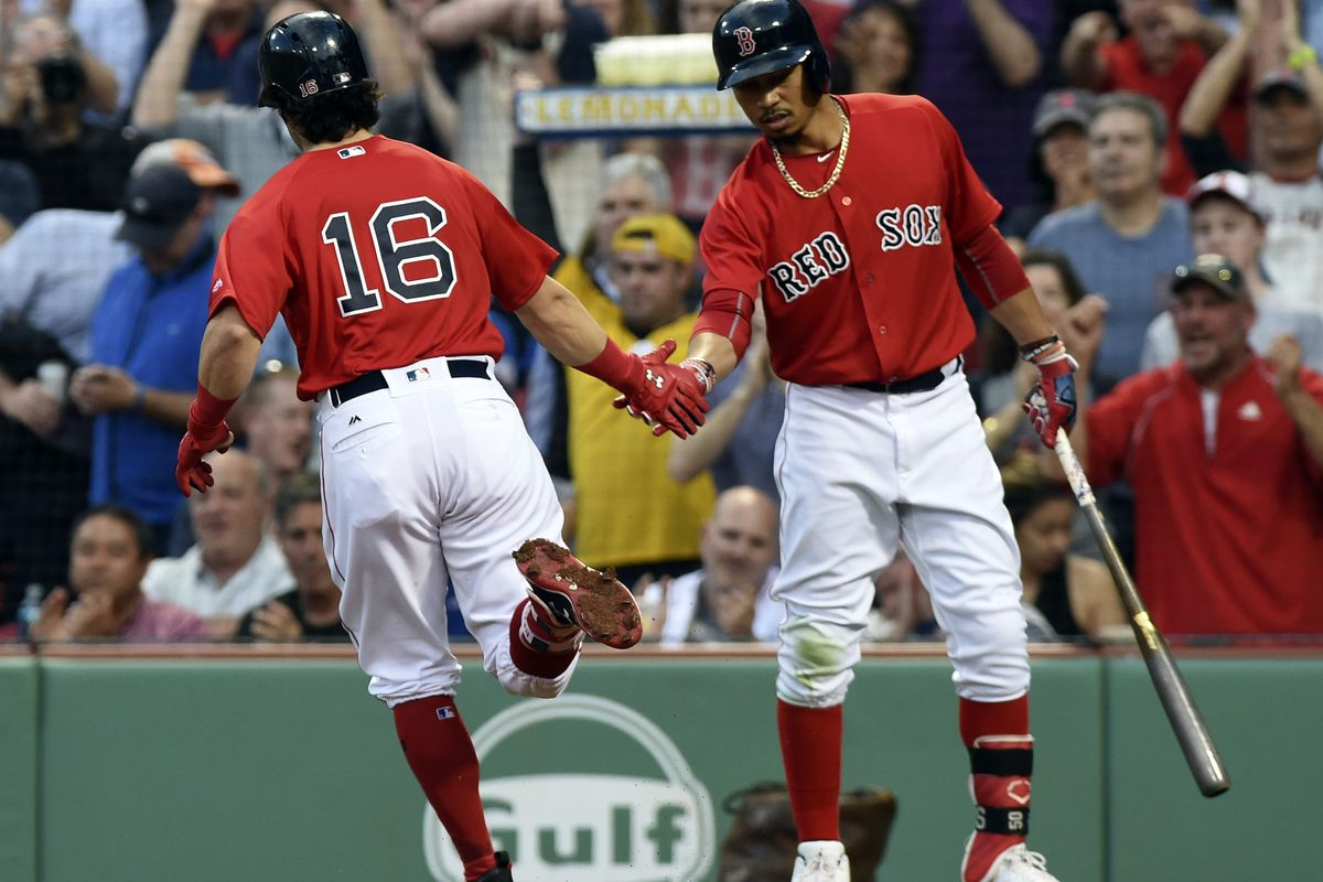 low priced 4e58d 1b8e9 Mookie Betts leads Red Sox in All-Star voting but Andrew ...