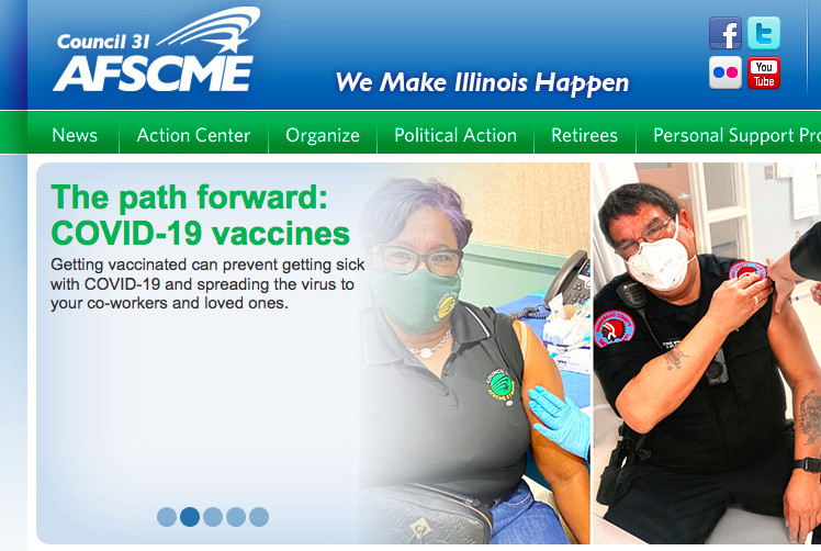 The AFSCME Council 31 union is urging its members to get vaccinated against the coronavirus — Randy Hellmann's dying wish.
