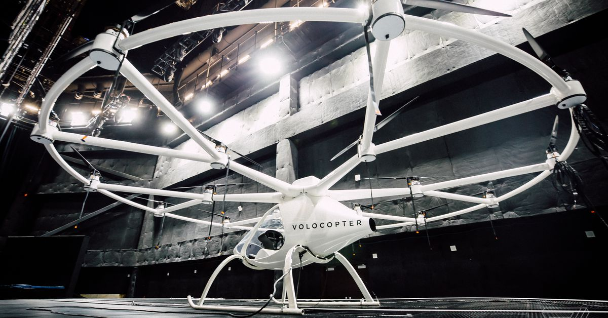 Volocopter's flying taxi takes flight for first time in US