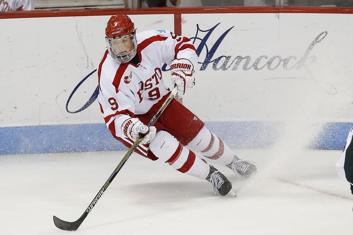 2015 Beanpot  BU Unveils Jack Eichel Hobey Baker Button - SB Nation ... 534146d71