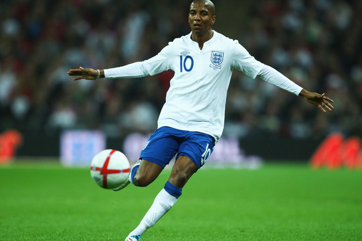 LONDON, ENGLAND - MARCH 29:  Ashley Young of England in action during the international friendly match between England and Ghana at Wembley Stadium on March 29, 2011 in London, England.  (Photo by Julian Finney/Getty Images)
