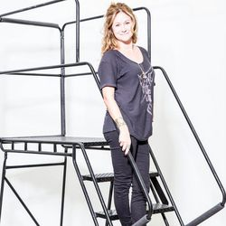 """<p><b>Michelle Chaudoir, eBay's photo shoot producer</b>, is wearing a Maison Scotch tee, Iris and Ink Jeans and Madewell shoes.</p><p>  <b>What is your work style?</b></p><p> """"My work style has definitely evolved into something where I have a set of """""""