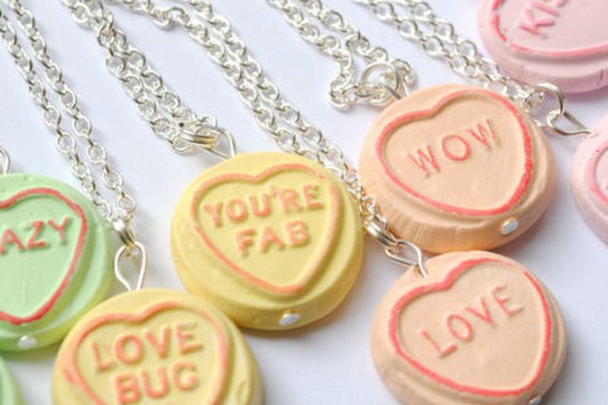 """<a href=""""http://www.etsy.com/listing/66974289/custom-loveheart-necklace"""">Custom Loveheart Necklaces</a>, recommended by Tavi"""