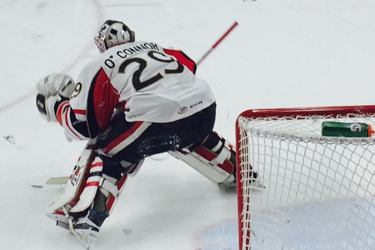 Matt O'Connor struggled in loss to the Hershey Bears on Friday