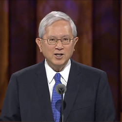 Elder Gerrit W. Gong of the Quorum of the Twelve Apostles speaks in a prerecorded address that was broadcast during the Saturday afternoon session of the 190th Semiannual General Conference of The Church of Jesus Christ of Latter-day Saints on Oct. 3, 2020.