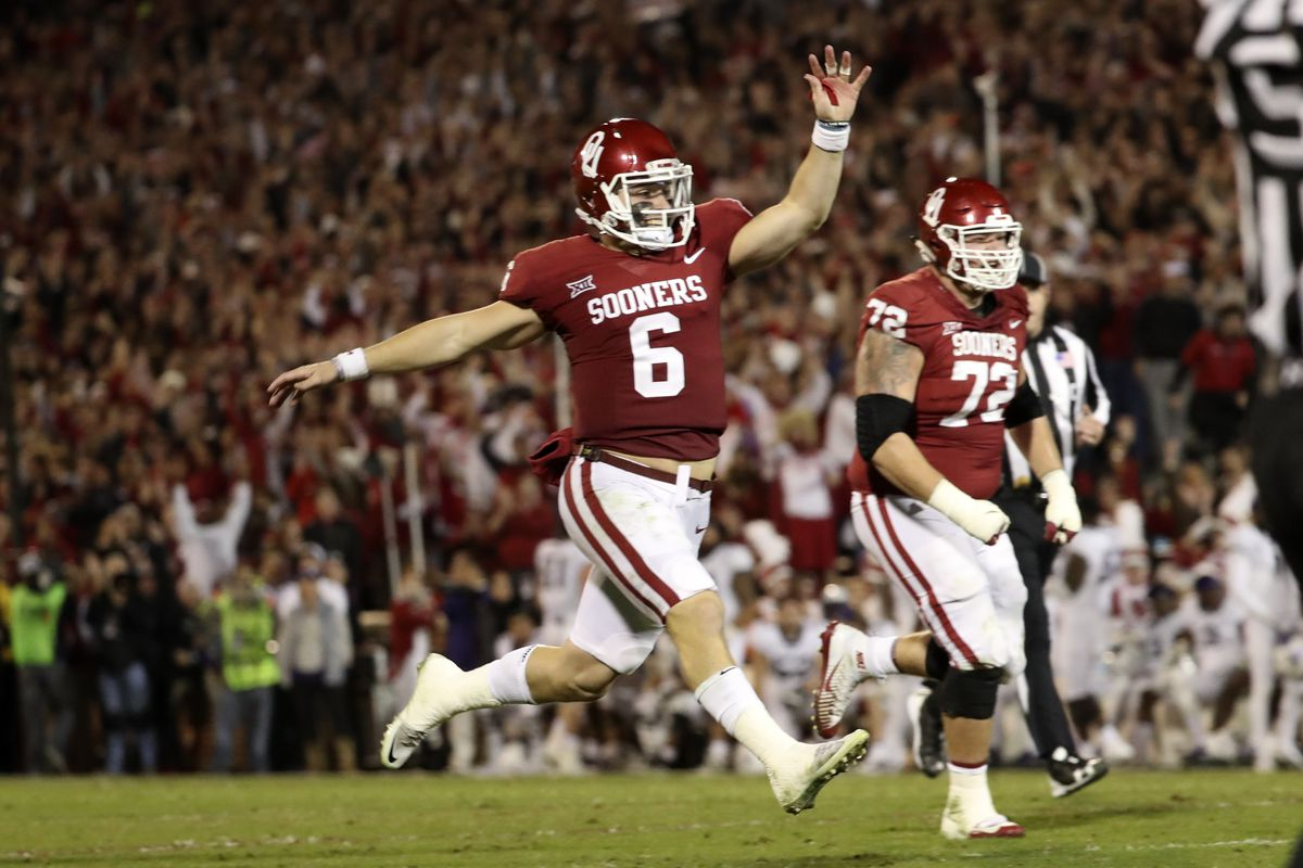 official photos bea92 802d0 Oklahoma beats TCU, and Baker Mayfield probably just won the ...