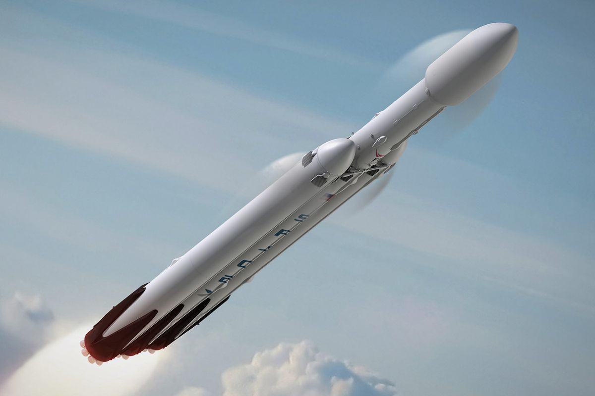 SpaceX's new Falcon Heavy rocket to carry Tesla Roadster to Mars