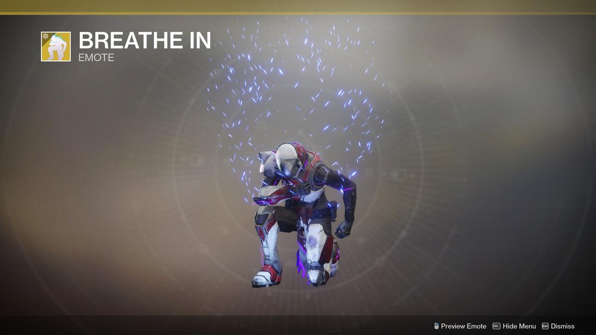 Breathe In Exotic emote Destiny 2