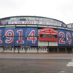 The banners on the ballpark
