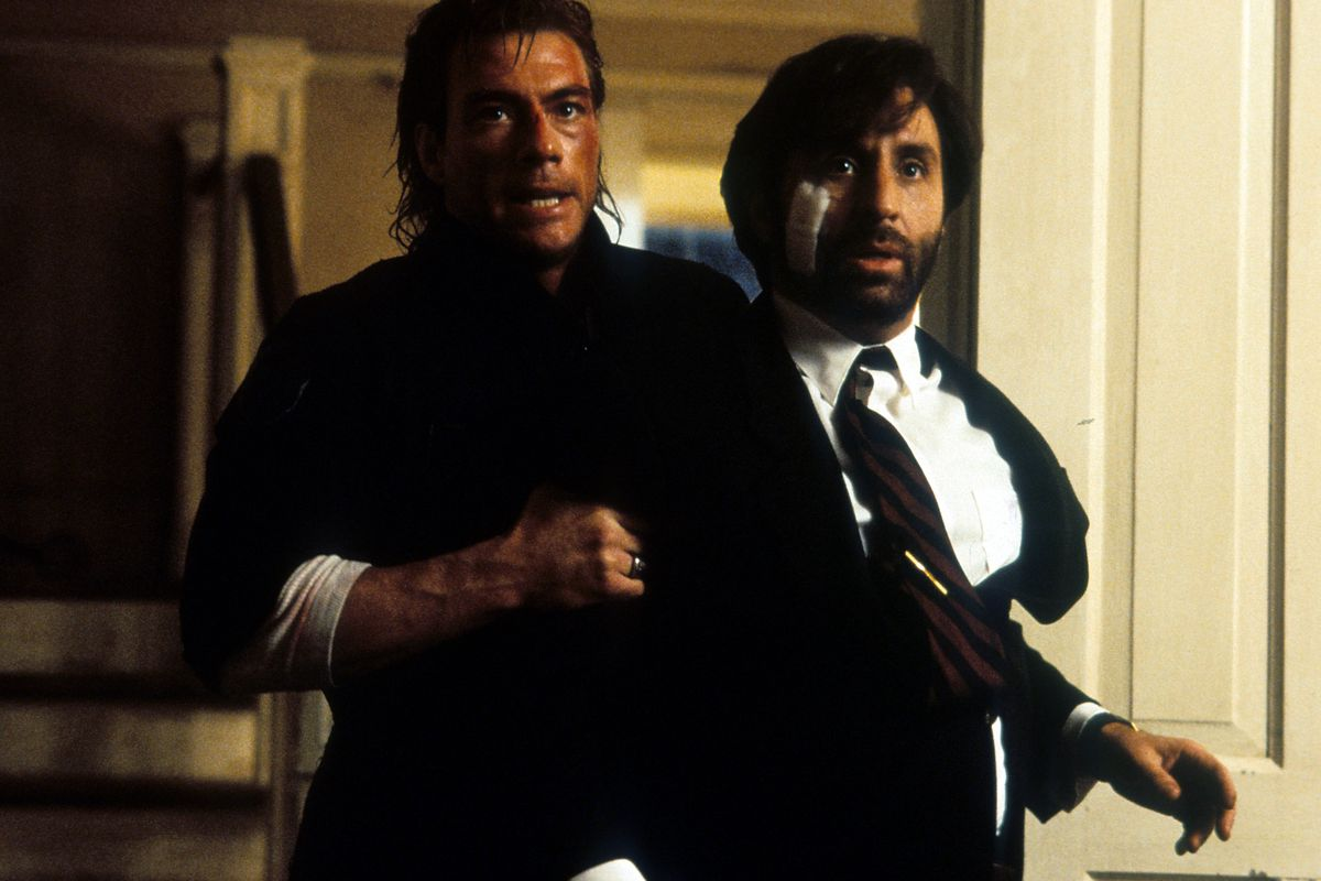 Jean-Claude Van Damme And Ron Silver In 'Timecop'