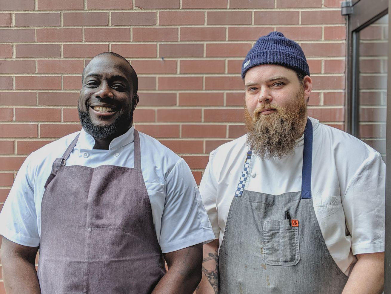 Entente's co-executive chefs Ian Davis and Brian Fisher.
