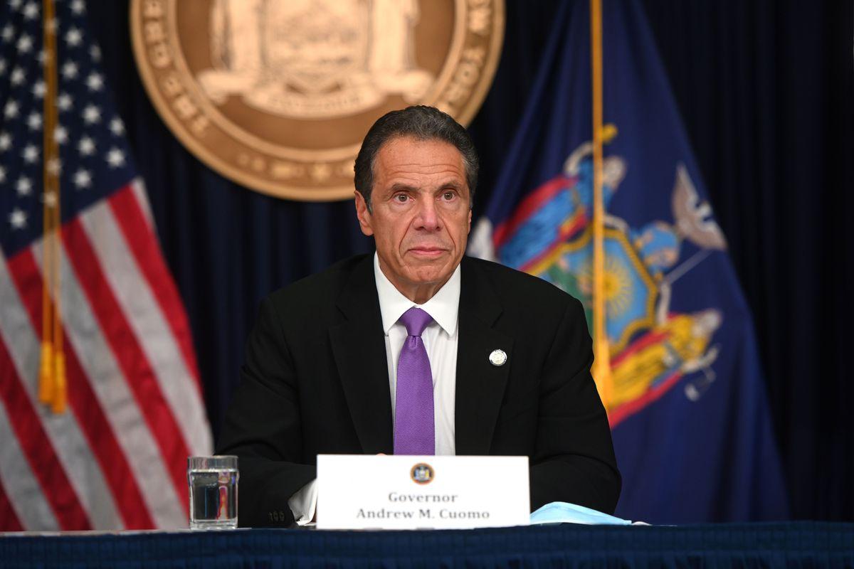 Gov. Andrew Cuomo speaks in New York City during, June 8, 2020.