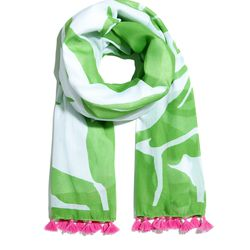 'Boom Boom' tassel scarf, $20