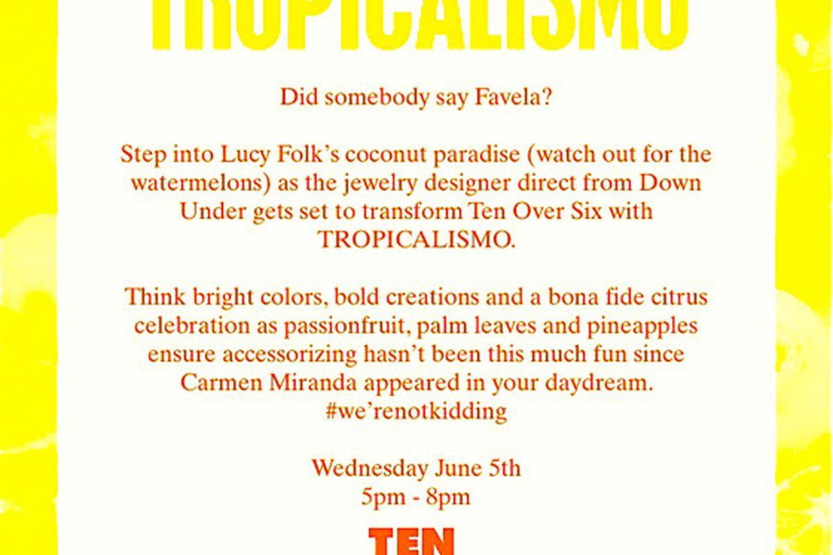 Flyer via TenOverSix