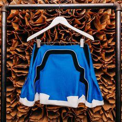 """<b>O'2nd</b> Frame Work Colorblock Skirt, <a href=""""http://owennyc.com/shop-women/women/women-skirts/frame-work-colorblock-skirt.html""""> $295</a>"""