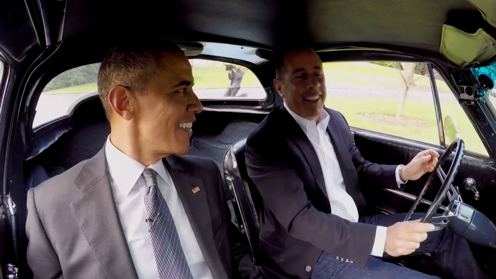 Comedians Driving Cars Getting Coffee Obama