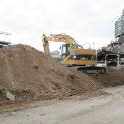 Proof of the excavation work taking place in the RF bleachers