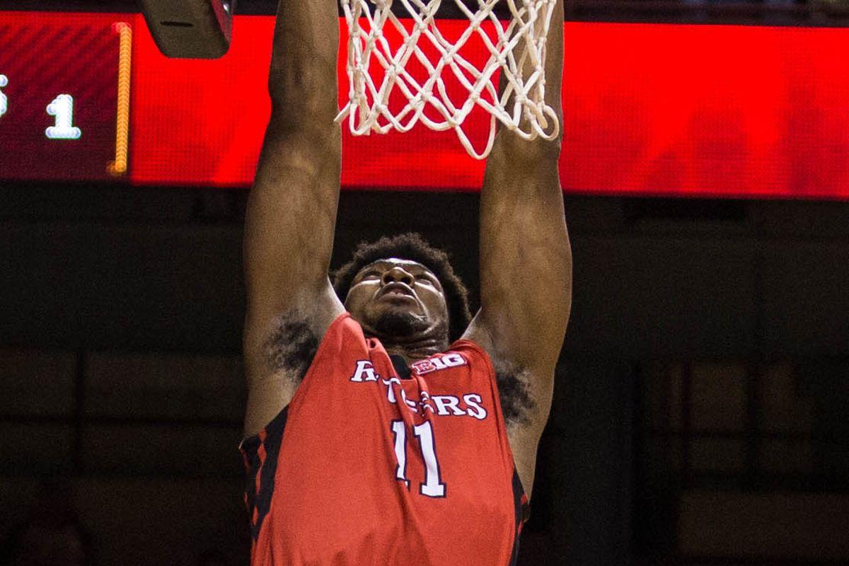 Kadeem Jack lays down the dunk.