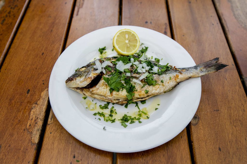 Grilled fish at Tsiakkos and Charcoal in Maida Vale, one of the best restaurants in Maida Vale and Queen's Park