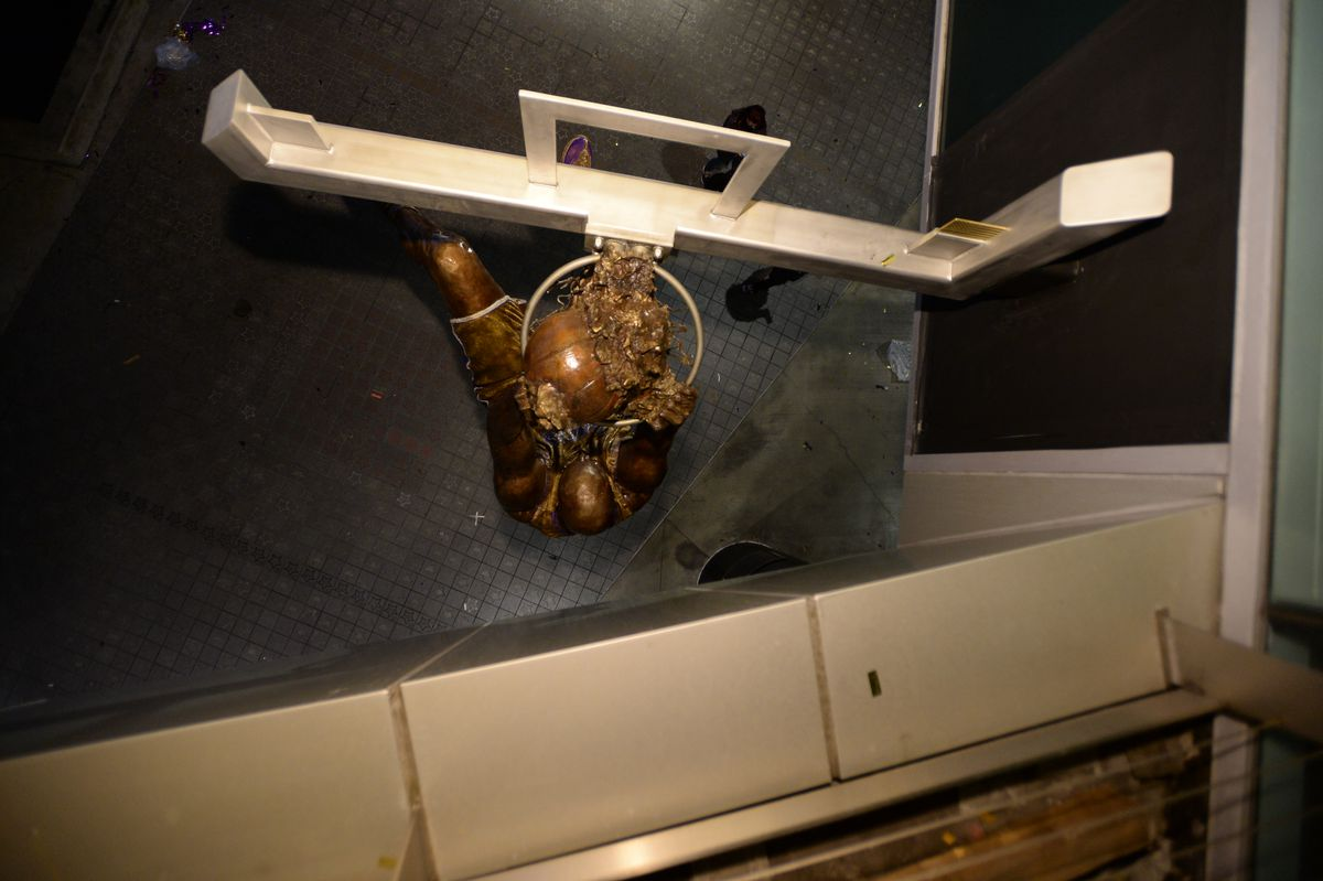 View of statue from above