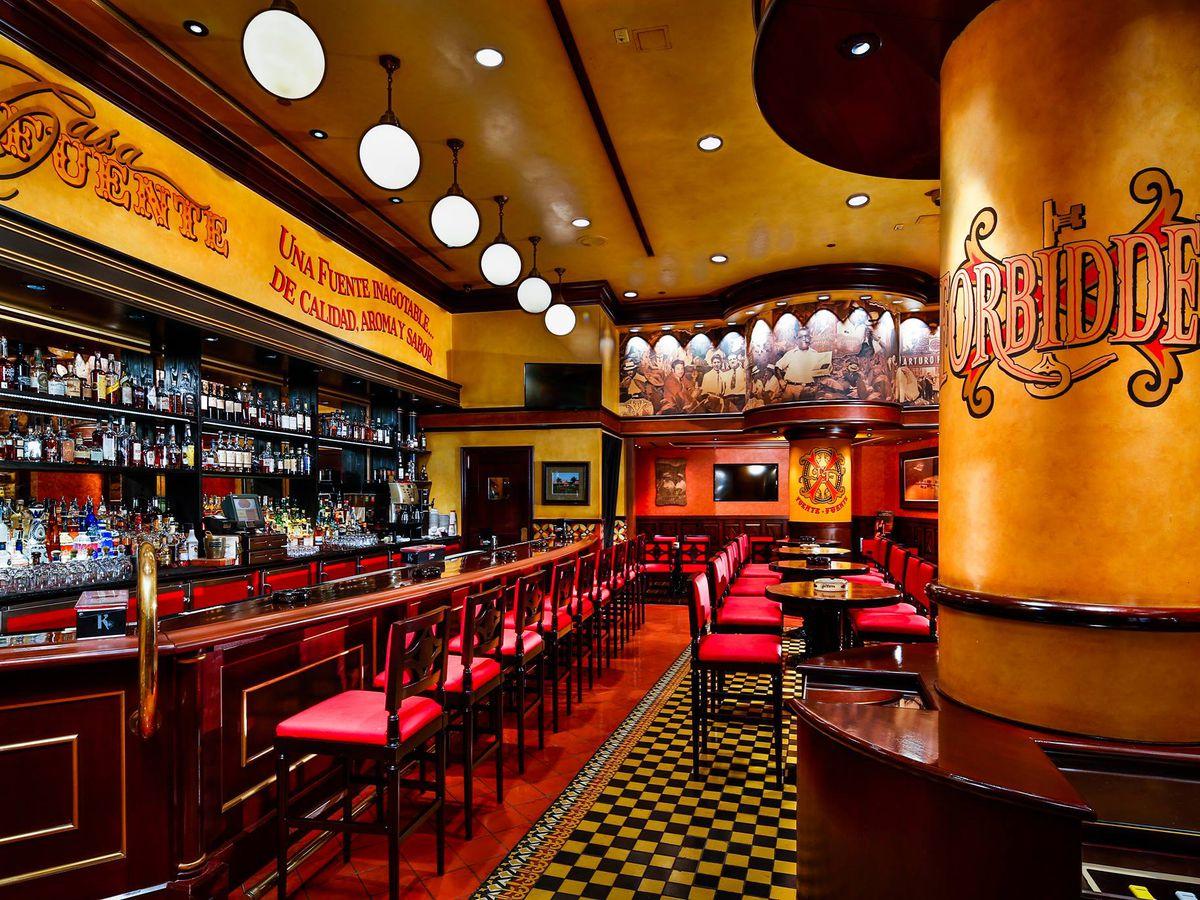 A rum bar and cigar lounge