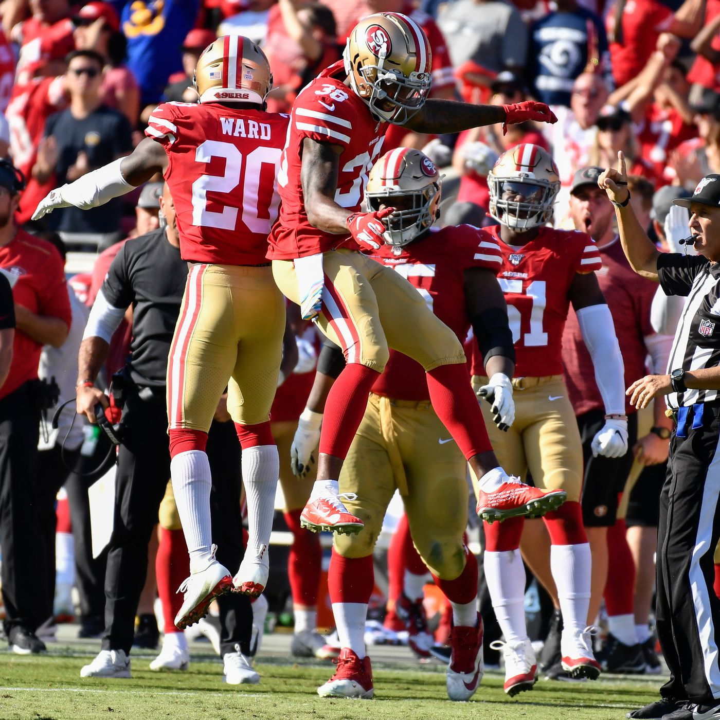49ers Rams Discussion 49ers Remain Undefeated In The Nfc