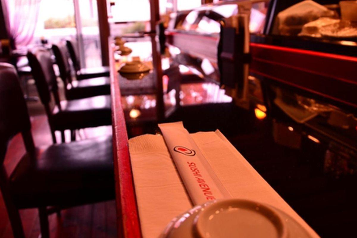 The sushi bar at Sushi Avenue.