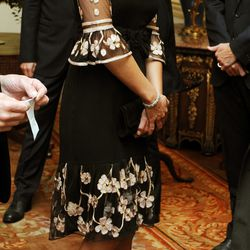 During a reception for London's 2012 Paralympic team on October 23rd, 2012, Kate wears an Alice Temperley dress.