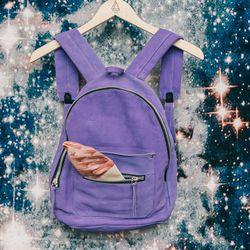 "Khoi 'Le Mini' backpack, <a href=""http://americantwoshot.com/khoi-le-mini-backpack"">$300</a>; Ice cream pouch, <a href=""http://americantwoshot.com/ice-cream-pouch"">$18</a>"