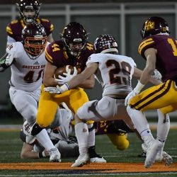 Loyola's Michael Gavric (44) covers the ball. Worsom Robinson/For the Sun-Times.