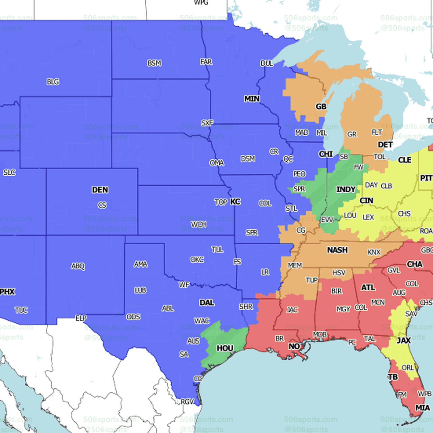 Nfl Week 15 National Tv Maps Which Games Will You Get On Sunday Baltimore Beatdown