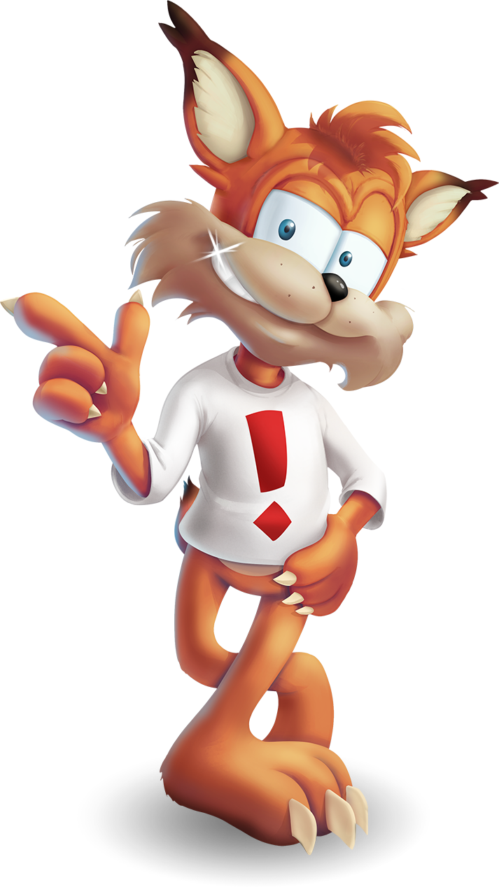Bubsy standing