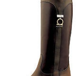 Boot by Ferragamo combines form and function.