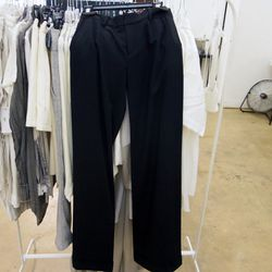 L'Agence wide leg trousers, $158