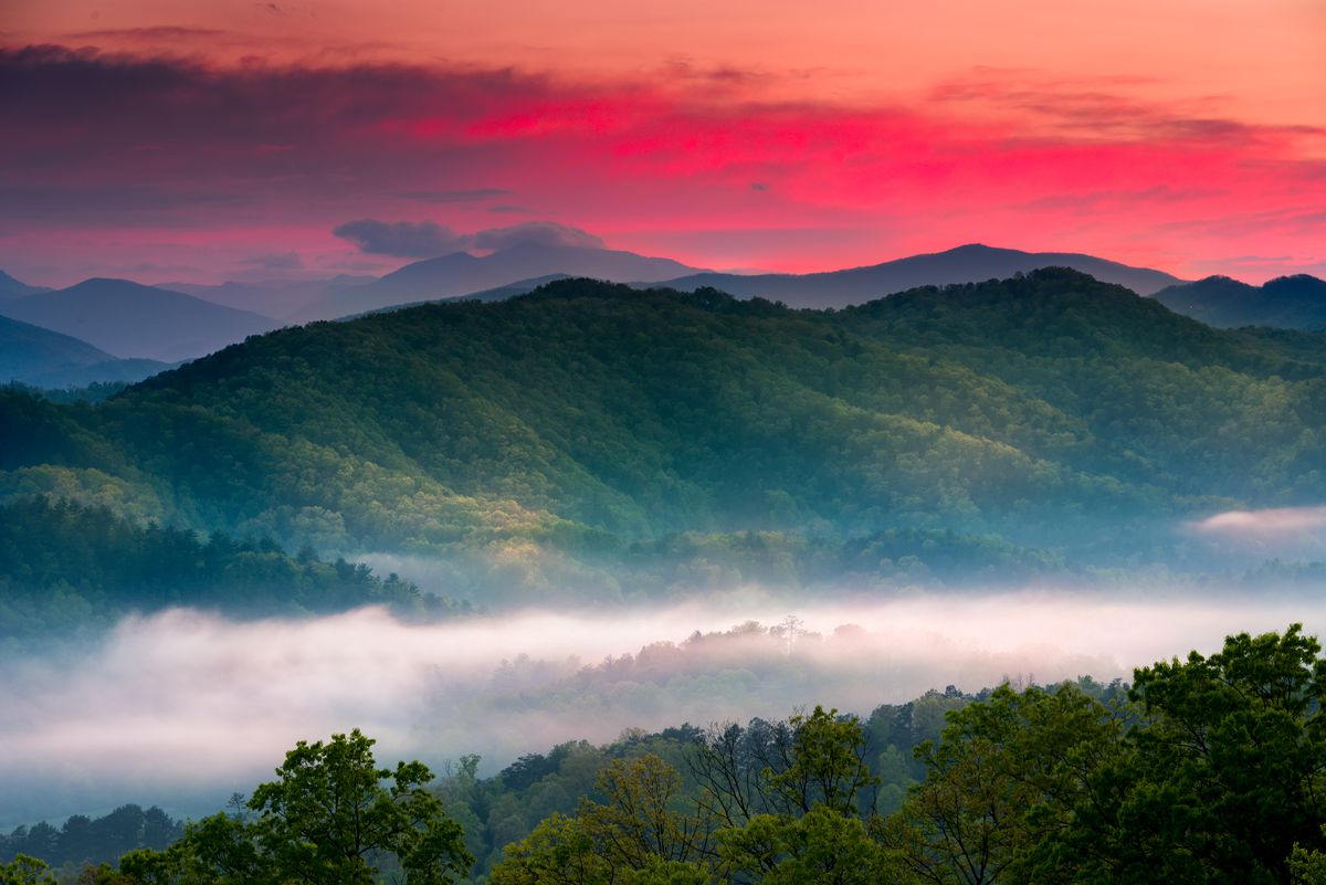 Spring sunrise in Great Smoky National Park