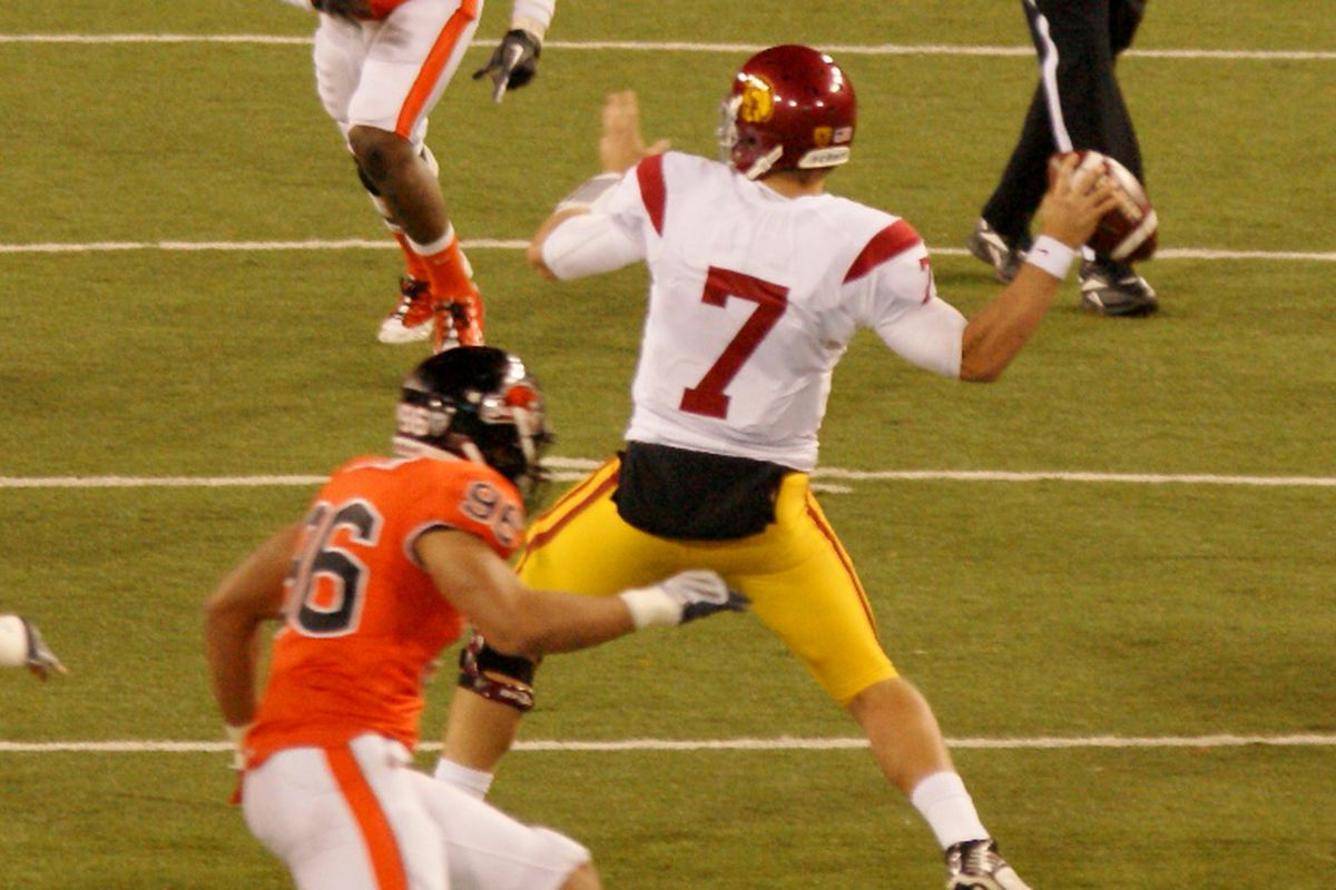 USC quarterback Matt Barkley enters his third season as the Trojans quarterback, looking to lead USC to the top of the Pac-12 Southern Division, before possibly leaving early for the NFL.  <em>(Photo by Andy Wooldridge)</em>
