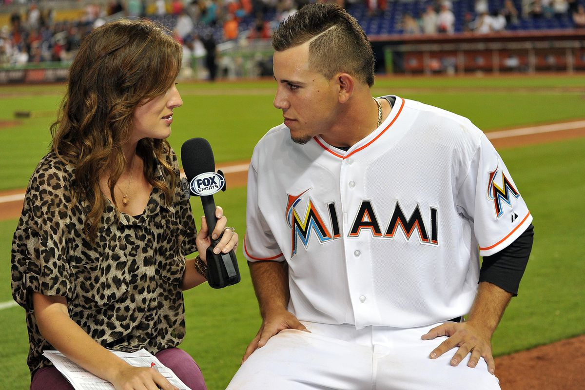 Miami Marlins starting pitcher Jose Fernandez had such a great day that he got to speak one-on-one with the beautiful Allison Williams.
