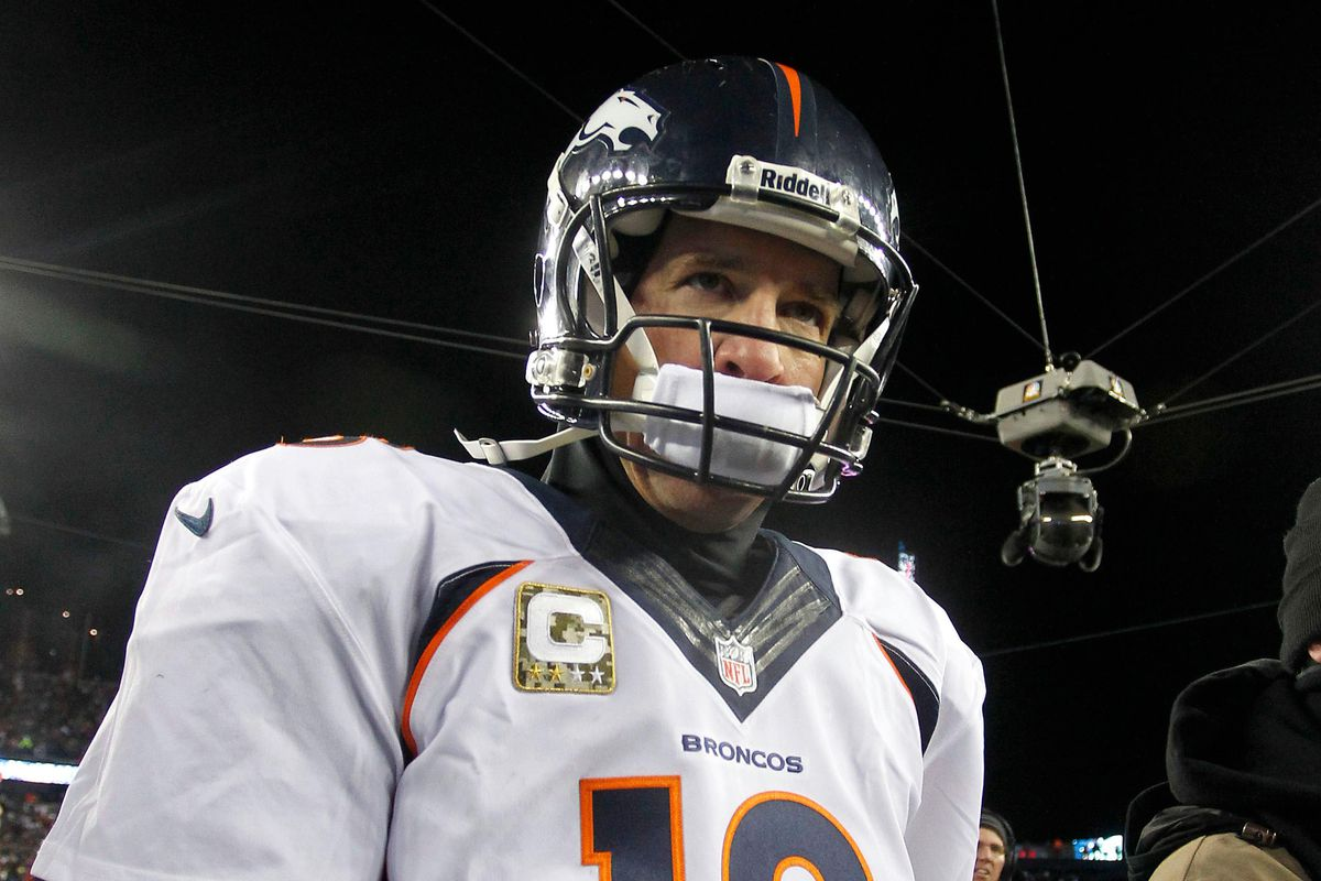 Peyton Manning will look to avenge an overtime loss to the Patriots from early this year.